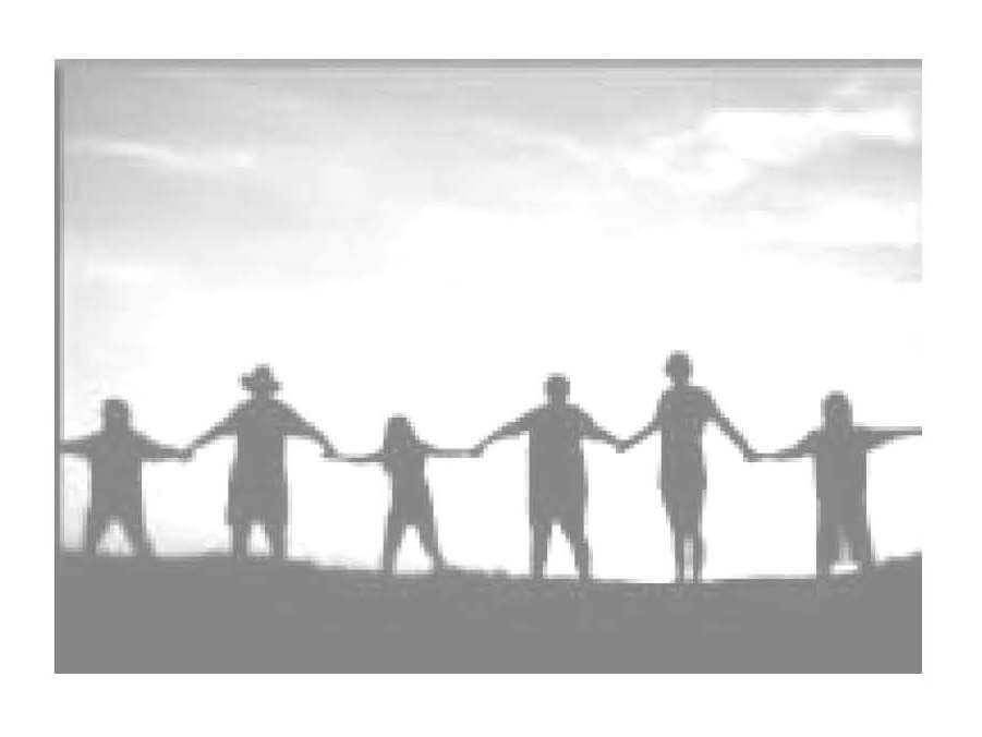 Grupa ludzi trzymająca się za ręce