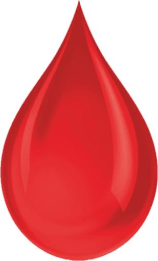 Zdjęcie przedstawia kropelkę krwi