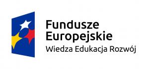 Logotyp Funduszy Europejskich Wiedza Edukacja Rozwój