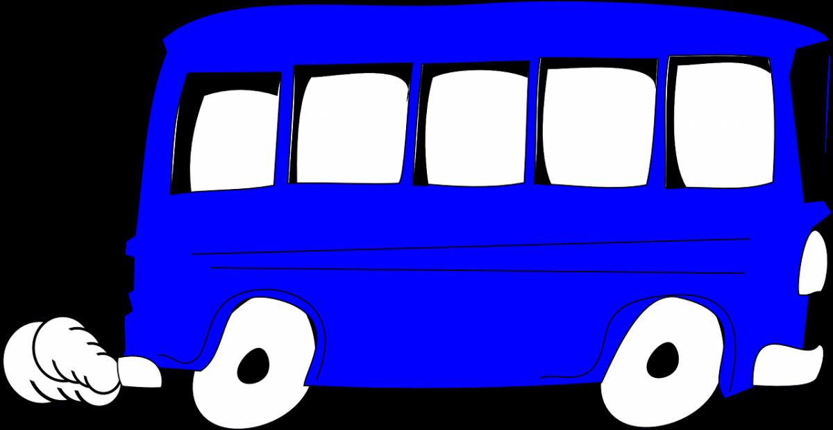 Granatowy autobus