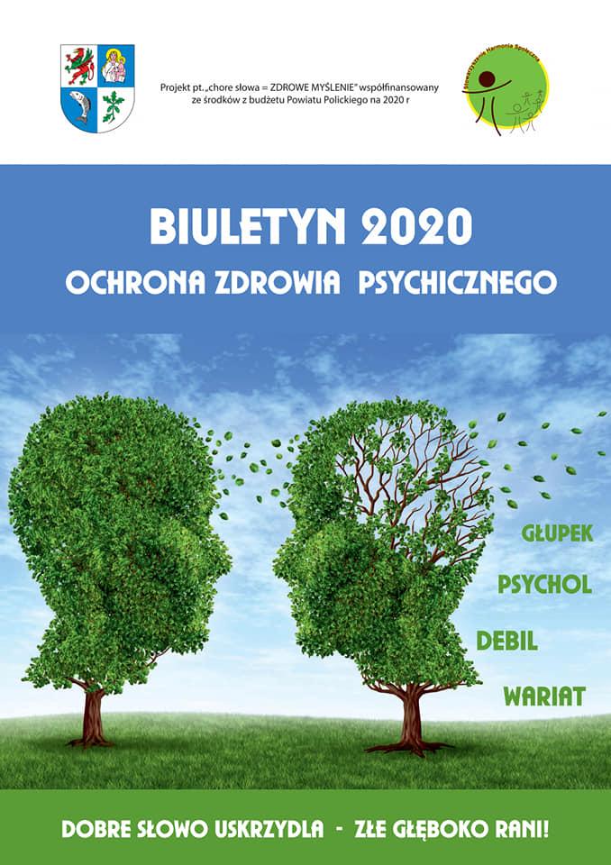 """Strona tytułowa biuletynu 2020 """"Ochrona zdrowia psychicznego"""""""