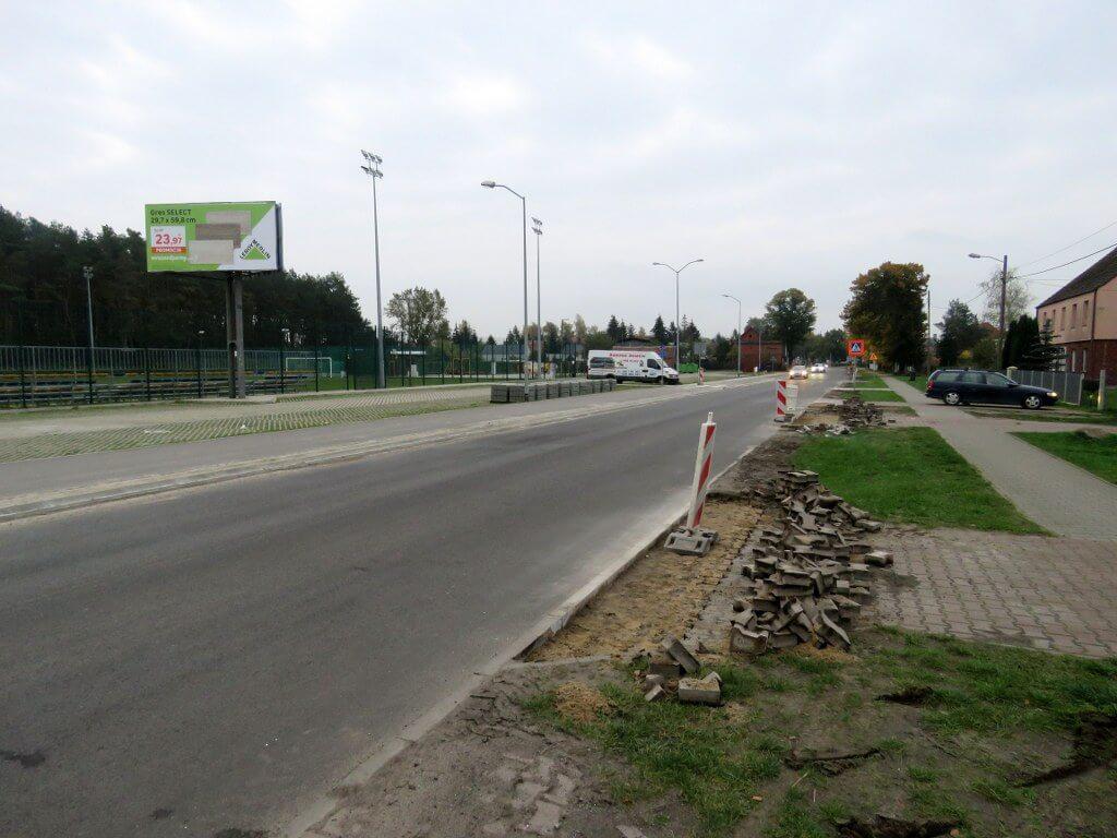 Remontowana droga na odcinku Dobra-Wołczkowo