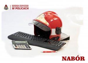 Grafika przedstawiająca atrybuty strażaka i księgowego