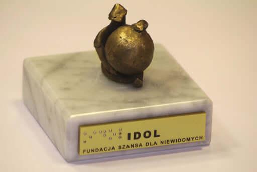 Statuetka za zwycięstwo w konkursie IDOL