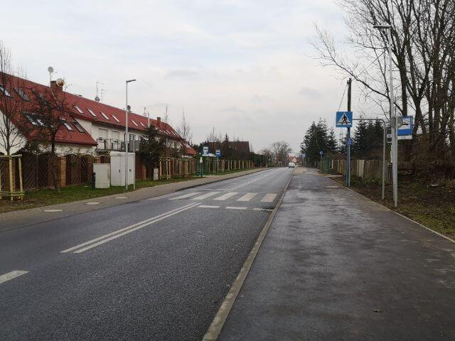 Przebudowany odcinek drogi powiatowej Szczecin-Stobno