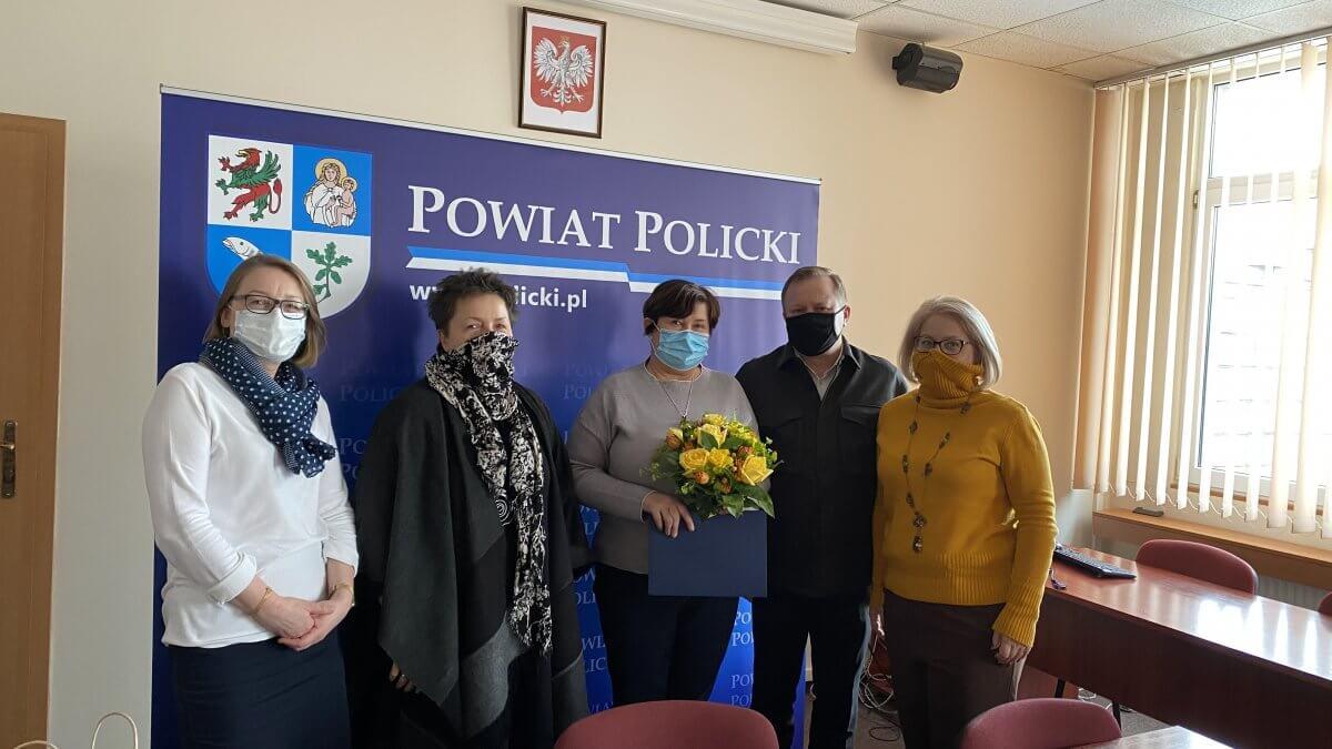 Kierownictwo Starostwa Powiatowego w Policach z nowym Powiatowym Inspektorem Nadzoru Budowlanego w Policach