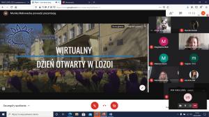 Zrzut ekranu z wirtualnych XVIII Targów Szkół