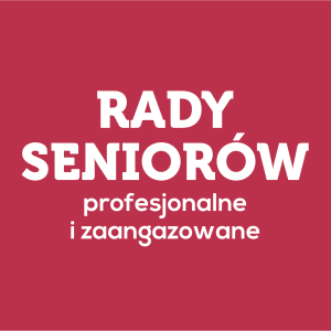 Logo Rady Seniorów profesjonalne i zaangażowane