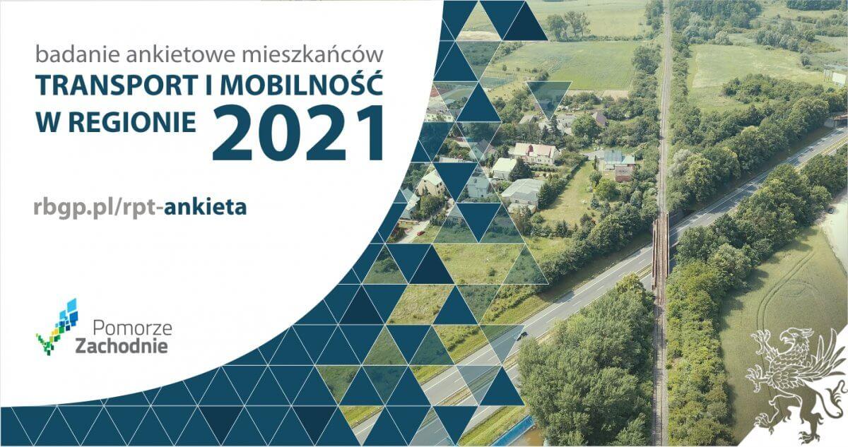 Plakat transport i mobilność w regionie 2021