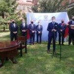 Wojewoda Zachodniopomorski Zbigniew Bogucki przemawia podczas wydarzenia
