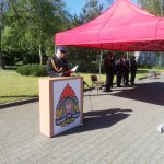 Przemówienie komendanta powiatowego Państwowej Straży Pożarnej w Policach