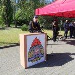 Przemówienie komendanta wojewódzkiego Państwowej Straży Pożarnej
