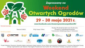 Zaproszenie na Weekend Otwartych Ogrodów 29-30 maja 2021 r.