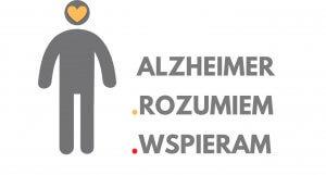 Logo kampanii informacyjnej ALZHEIMER ROZUMIEM WSPIERAM