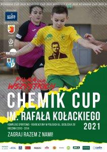 Plakat Turnieju CHEMIK CUP 2021 im. Rafała Kołackiego