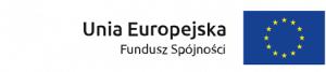 Flaga Unii Europejskiej z opisem po lewej stronie Unia Europejska Fundusz Spójności
