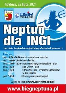 plakat promujący Bieg Neptuna