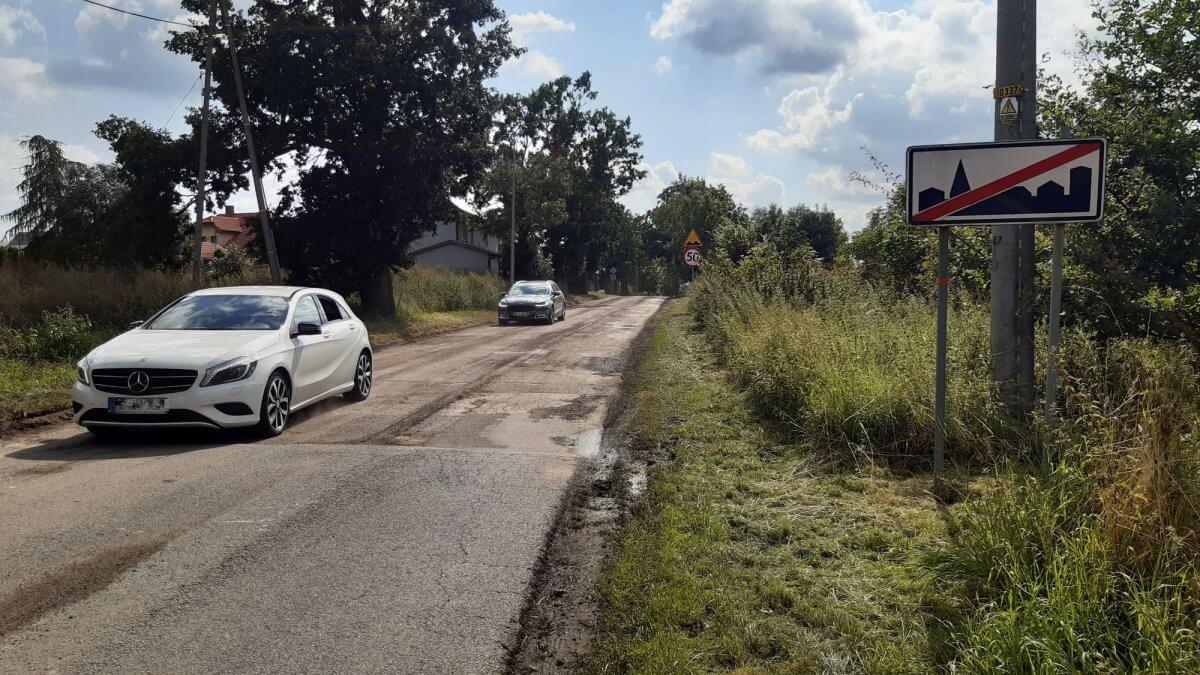 Remontowany odcinek drogi Ustowo-Siadło Górne