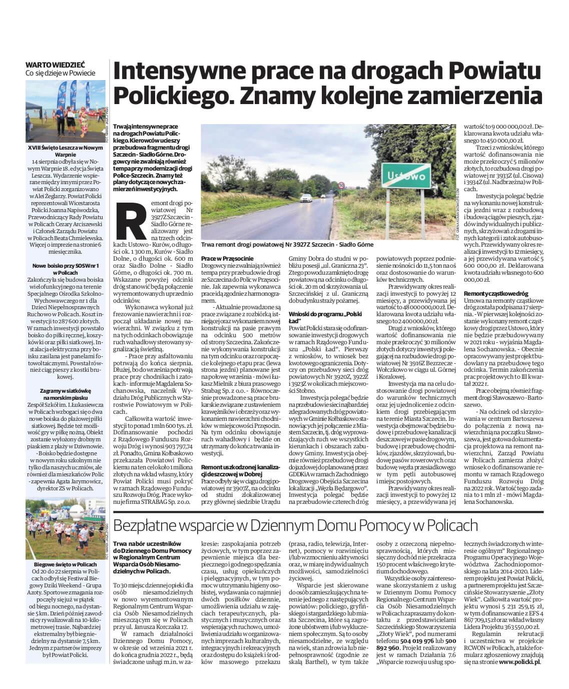 Strona promocyjna Powiatu Polickiego w Głosie Polic