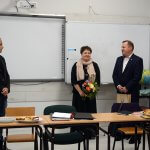 Starosta Policki Andrzej Bednarek, Członek Zarządu Powiatu w Policach Beata Chmielewska i Dyrektor MOW Trzebież Marcin Głuszyk