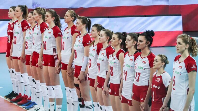 Kadra Polski w piłce siatkowej kobiet podczas prezentacji drużyny
